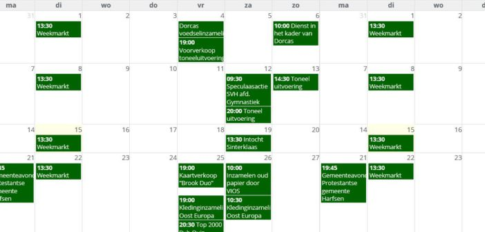 Laat activiteiten/evenementen opnemen in de H.nl agenda