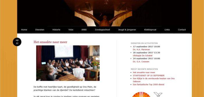 Site Protestantse Gemeente vernieuwd