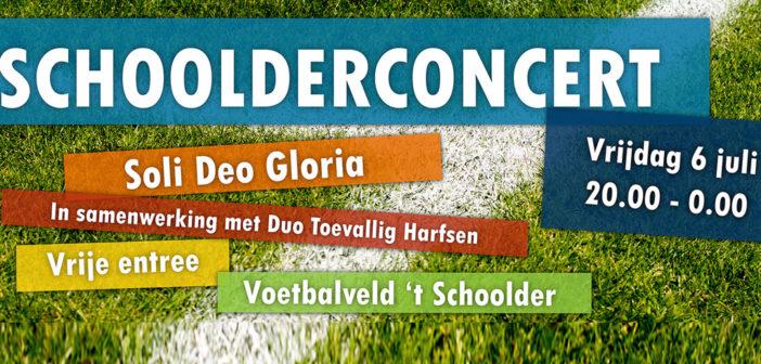 Aanstaande vrijdag: stadionconcert op 't Schoolder